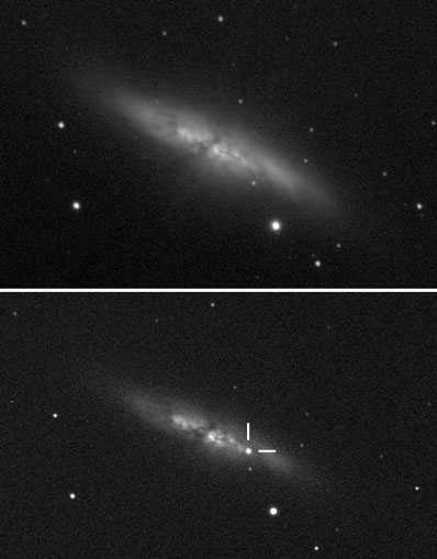 Bright, young supernova outburst in Messier 82