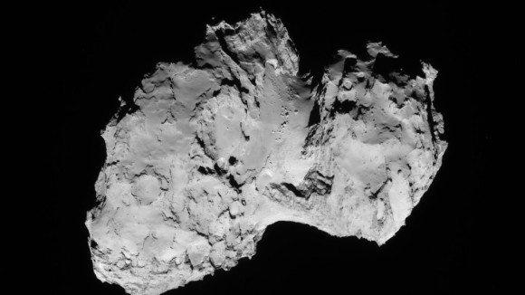 Comet 67P, seen by Rosetta's navigation camera. Image: ESA/Rosetta/NAVCAM.