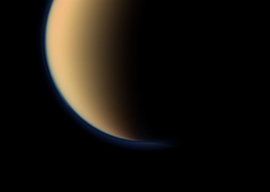 Titan as it would appear to the human eye. Image: NASA/JPL-Caltech/Space Science Institute