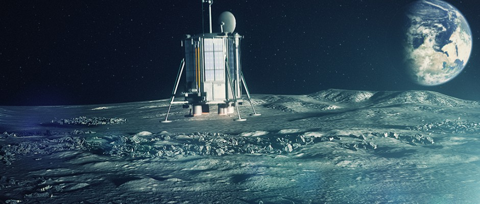 Artist's concept of Lunar Mission One. Credit: Lunar Missions Ltd.