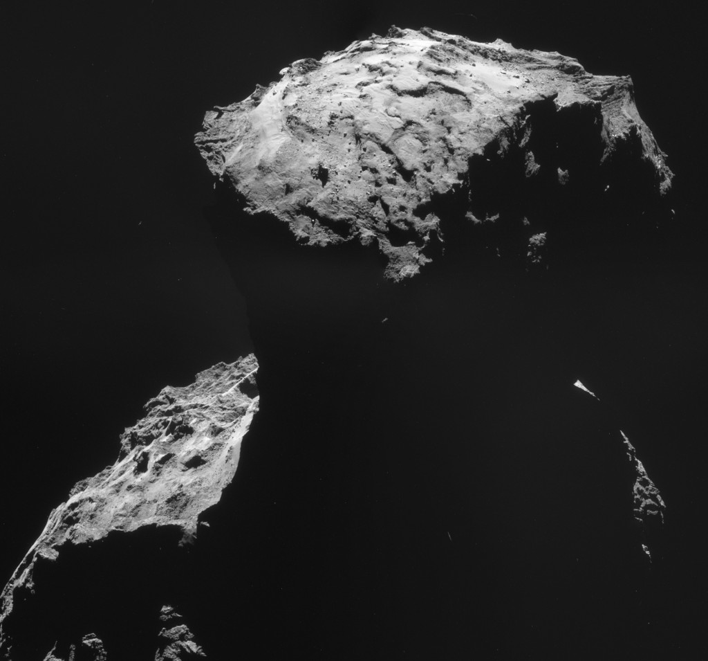 Four-image mosaic of Comet 67P/C-G on 30 October.