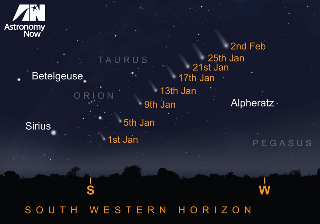 Where to look for Comet Lovejoy. AN Graphic by Greg Smye-Rumsby.