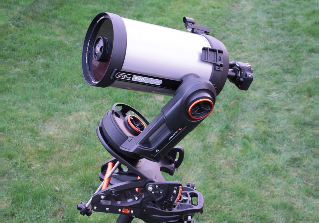 For long-exposure astrophotography with a DSLR or CCD camera, image rotation is eliminated with a Celestron Pro HD wedge (an optional extra). My tests revealed that the review instrument's polar axis had a peak-to-peak periodic error of just under 30 arcseconds. AN image by Ade Ashford