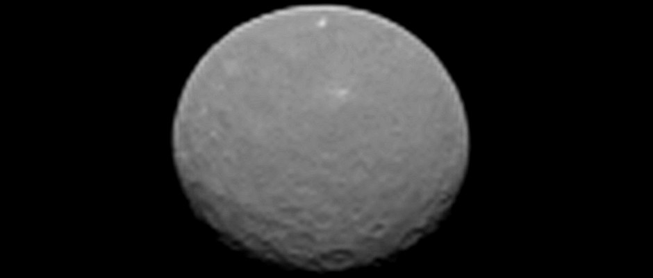 This image is one of several NASA's Dawn spacecraft took on approach to Ceres on 4th February 2015 at a distance of about 90,000 miles (145,000 kilometres) from the dwarf planet. Image credit: NASA/JPL-Caltech/UCLA/MPS/DLR/IDA