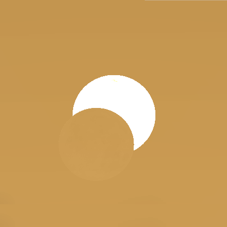 The annular eclipse of 26th January 2028 is seen close to sunset from the UK, where the west is favoured. This is a computer simulation of the view from Cork in Ireland at 16:30 UT. AN graphic by Ade Ashford/Stellarium