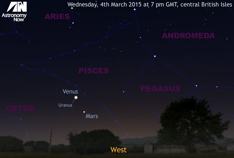 Planets Venus And Uranus In Close Conjunction Astronomy Now
