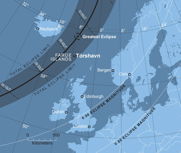 The path of totality. AN graphic by Greg Smye-Rumsby.