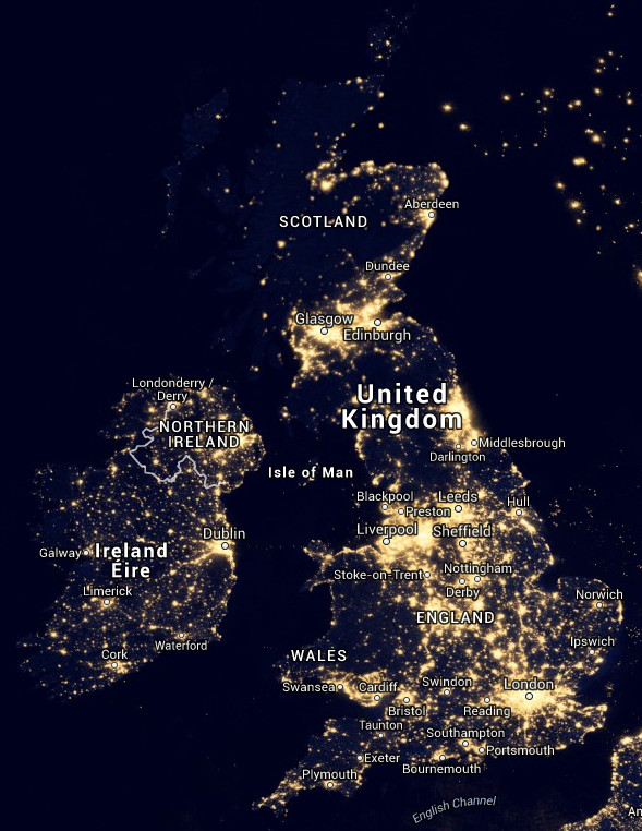 How bad is light pollution where you live? Click on this image to launch NASA's interactive and searchable Blue Marble Navigator. Image credit: NASA's Earth Observatory