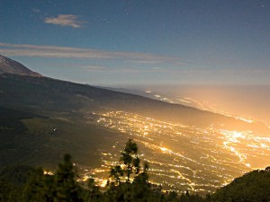 Light-pollution in northern Tenerife. Image credit: José Ángel 2008