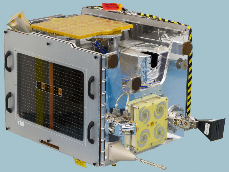 TechDemoSat-1 flight ready in SSTL's cleanroom, March 2013. Image credit: Surrey Satellite Technology Limited.