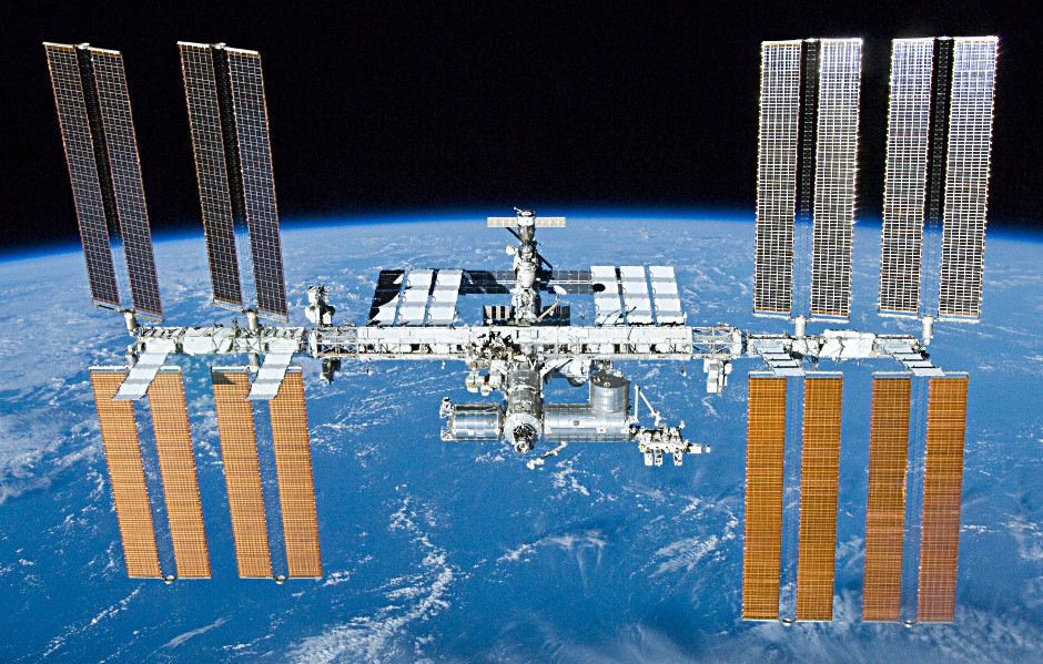 The International Space Station on 23 May 2010 as seen from the departing Space Shuttle Atlantis during STS-132. Image credit: NASA/Crew of STS-132/Wikimedia Commons.