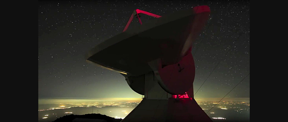 The Large Millimetre Telescope, located atop Sierra Negra (4,600 metres above sea level) in the state of Puebla, Mexico, is a bi-national collaboration between UMass Amherst and the Instituto Nacional de Astrofísica, Óptica y Electrónica. Image credit: UMass / JamesLowenthal.