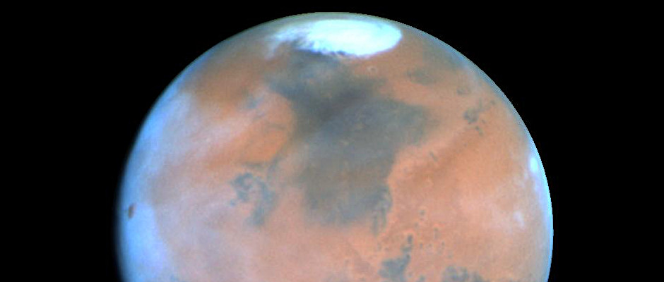 This NASA Hubble Space Telescope view of the planet Mars is the clearest picture ever taken from Earth, surpassed only by close-up shots sent back by visiting space probes. The picture was taken on 25 February 1995, when Mars was at a distance of approximately 65 million miles (103 million kilometres) from Earth. Image credit: Philip James (University of Toledo), Steven Lee (University of Colorado), NASA, via Wikimedia Commons.