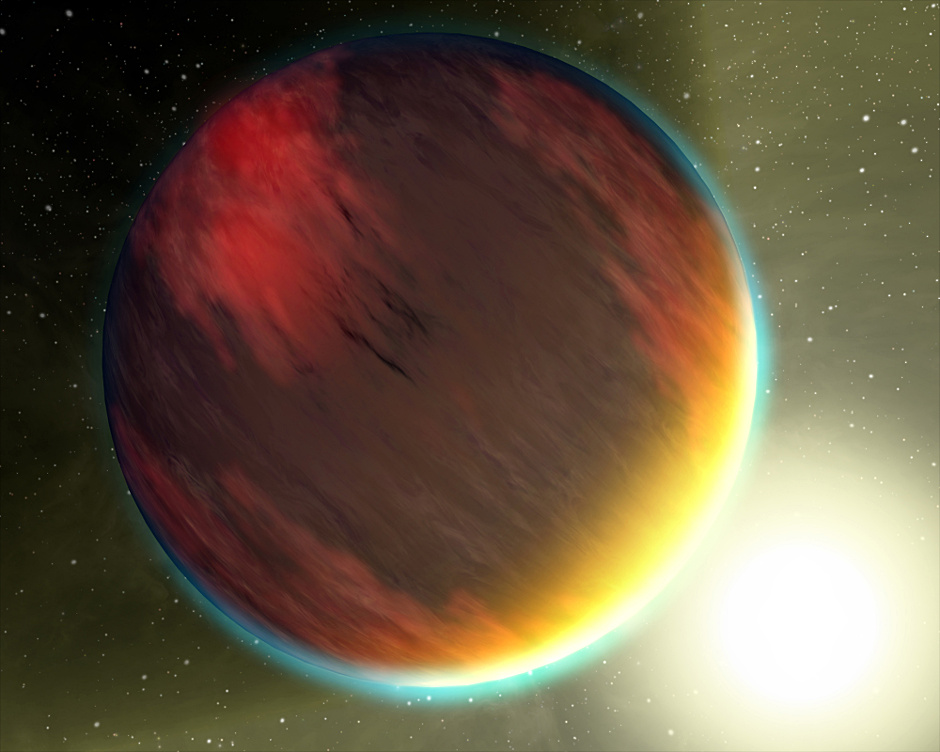 Artist's impression of a hot Jupiter. Using new data from the K2 mission, research reveals that WASP-47, a previously known hot Jupiter host, also hosts two additional transiting planets: a Neptune-sized outer planet and a super-Earth inner companion. Image credit: NASA.