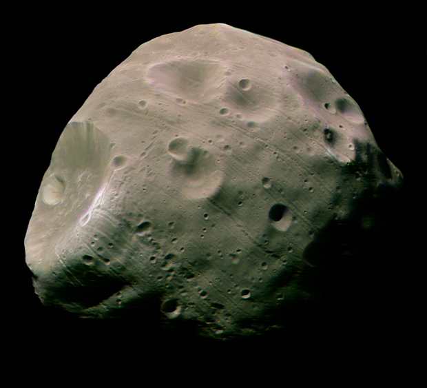 Phobos is destined to be torn apart by Mars' gravity. Image: ESA/DLR/FU Berlin.