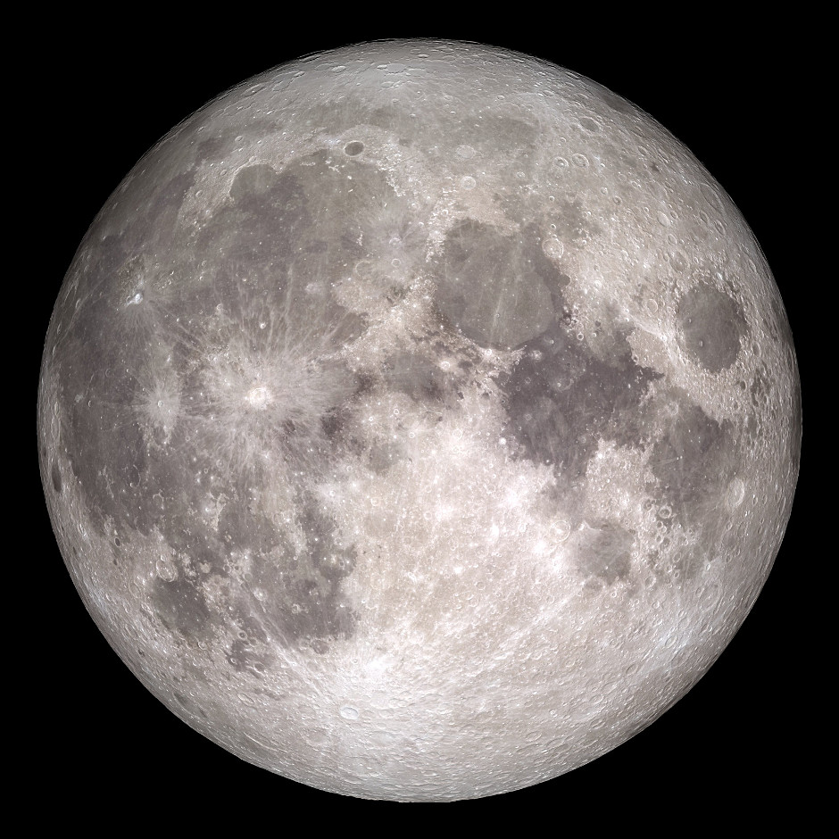 How the Moon will appear on 25December 2015. Image credits: NASA/Goddard/Lunar Reconnaissance Orbiter.