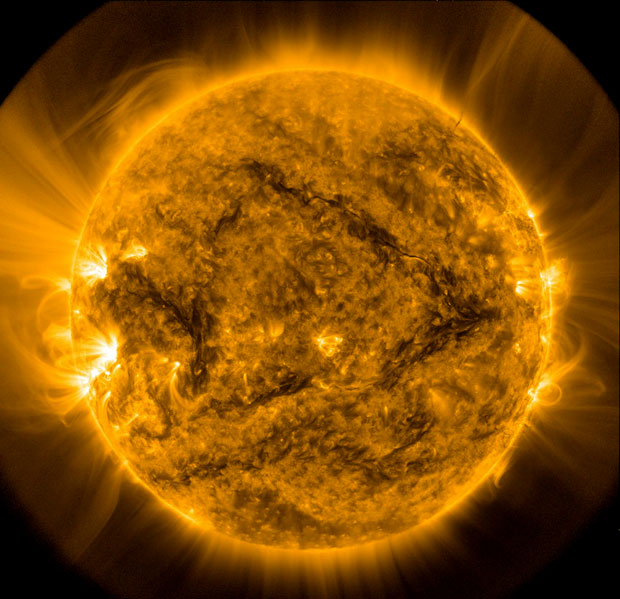 Sun-like stars have been destroying lithium by dragging it deep down into their hot interiors. Image: NASA/Solar Dynamics Observatory