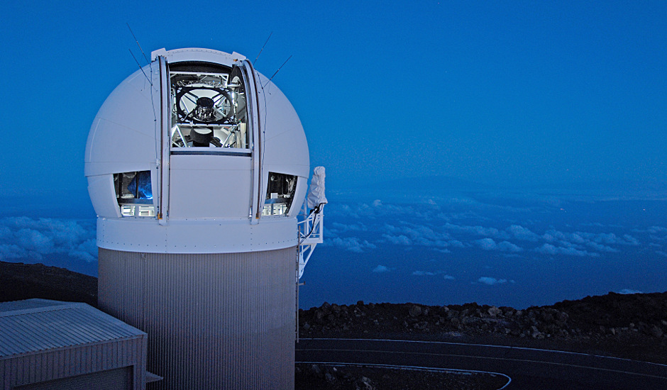 The Panoramic Survey Telescope & Rapid Response System (Pan-STARRS) 1 telescope on Maui's Mount Haleakala, Hawaii has produced the most near-Earth object discoveries of the NASA-funded NEO surveys in 2015. Image credits: University of Hawaii Institute for Astronomy / Rob Ratkowski.