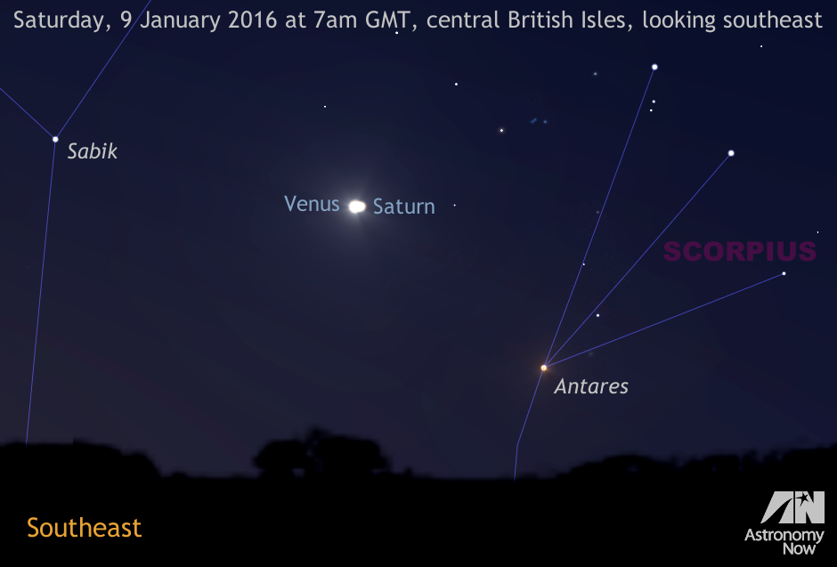 See Venus And Saturn Get Close On The Morning Of 9 January
