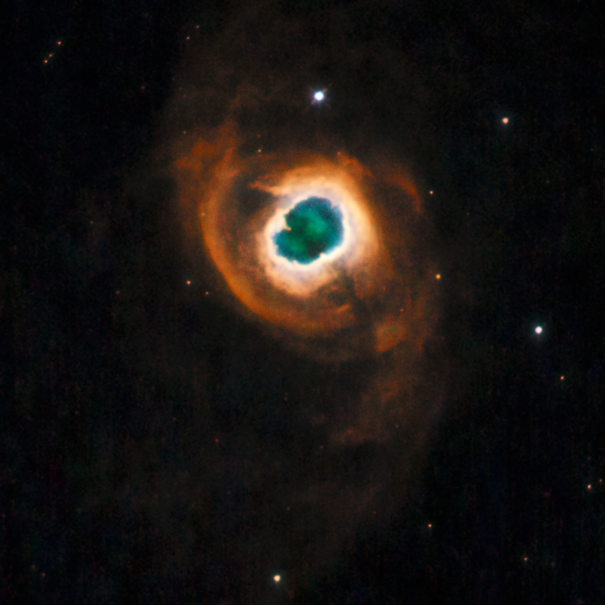 Planetary nebula Kohoutek4-55, 4600 light-years from Earth, in the direction of the constellation Cygnus. Image credit: NASA, ESA and the Hubble Heritage Team (STScI/AURA). Acknowledgment: R. Sahai and J. Trauger (Jet Propulsion Laboratory).