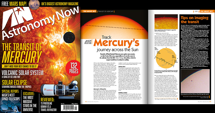 This month's issue of Astronomy Now is packed with information showing you how to enjoy this event in its entirety (weather permitting) from the BritishIsles. Image credit: © AN.