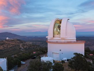Astronomers used the Harlan J. Smith Telescope at the University of Texas at Austin's McDonald Observatory near Fort Davis, Texas, to search for a planet around star CI Tau. Image credit: Ethan Tweedie Photography.