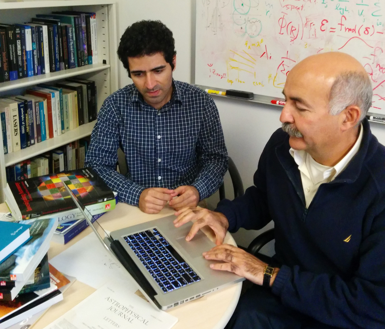 Behnam Darvish (left) and Bahram Mobasher are astronomers in the Department of Physics and Astronomy at the University of California, Riverside. Image credit: UC Riverside.