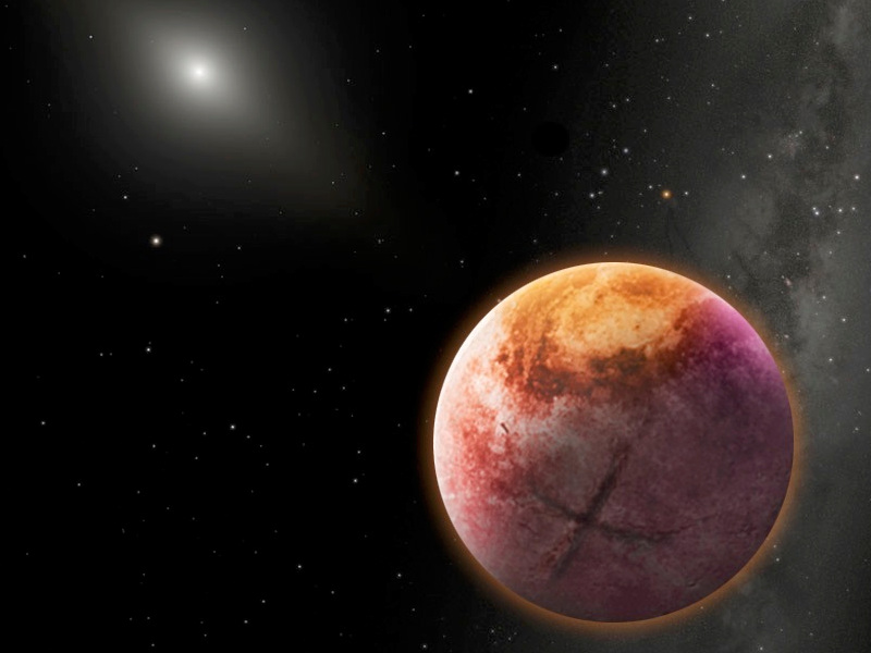 An artist's conception of PlanetX. Illustration credit: Robin Dienel.