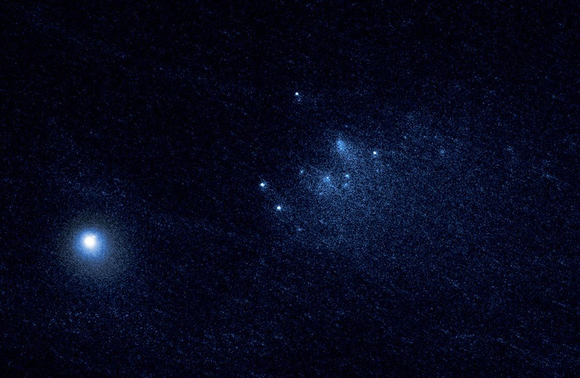 Hubble witnesses death throes of ancient comet