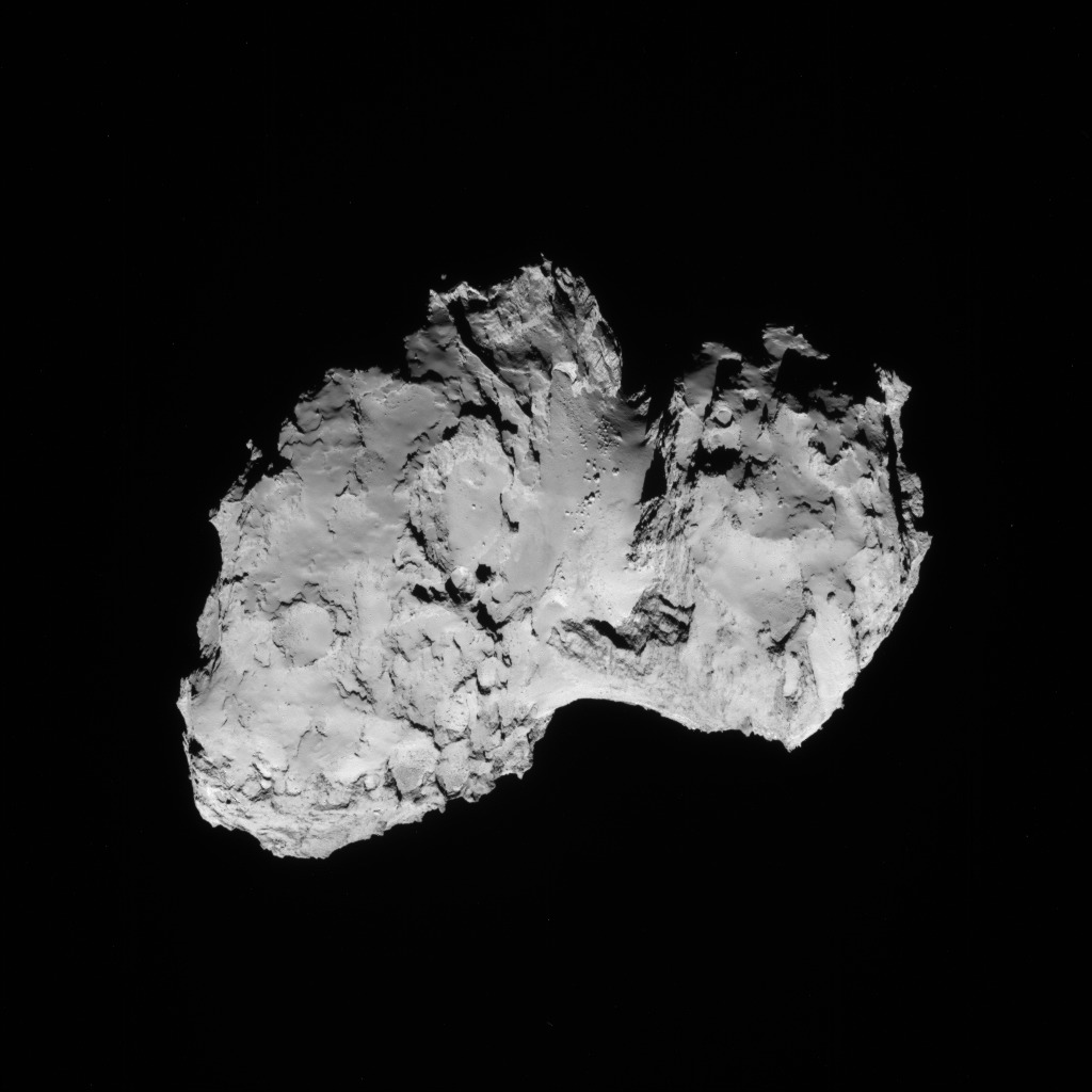 Comet 67P, seen by Rosetta's navigation camera. Image: ESA/Rosetta/NAVCAM.