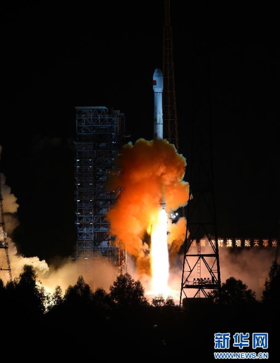 A Chinese Long March 3C rocket lifted off at 1800 GMT (2 p.m. EDT; 2 a.m. Beijing time). Credit: Xinhua
