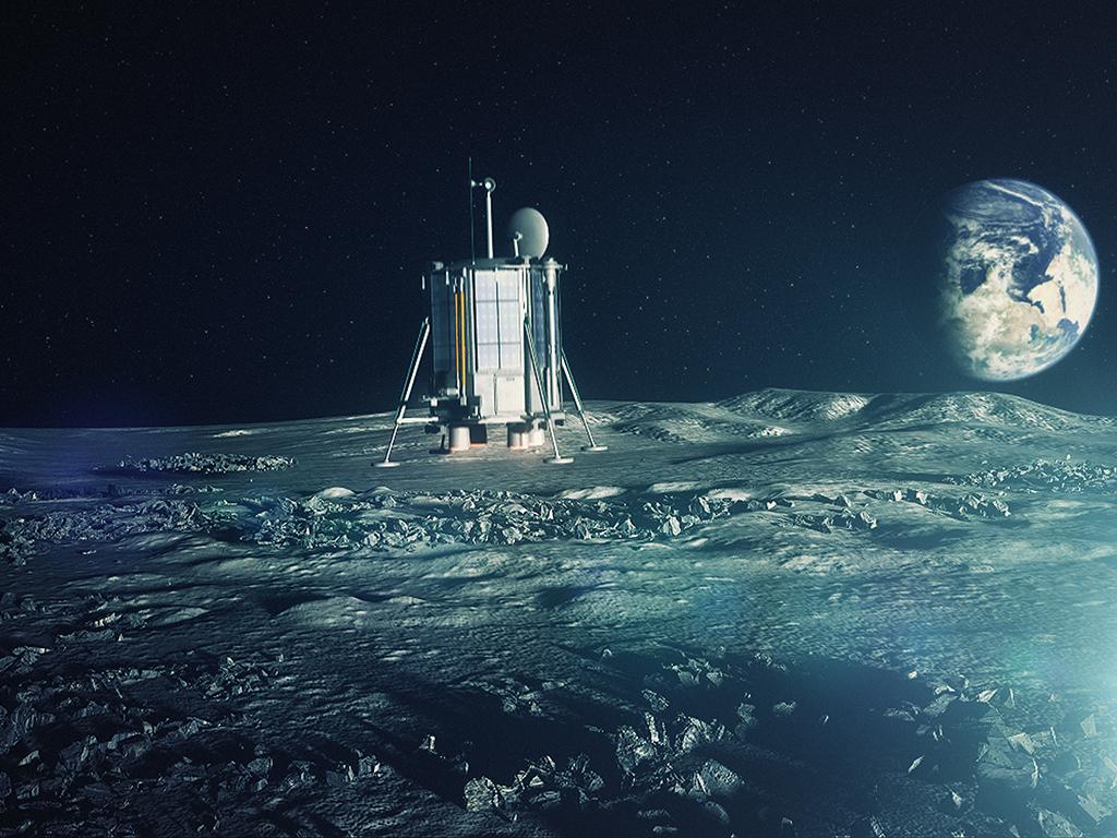Artist's concept of Lunar Mission One. Credit: Lunar Missions Ltd.