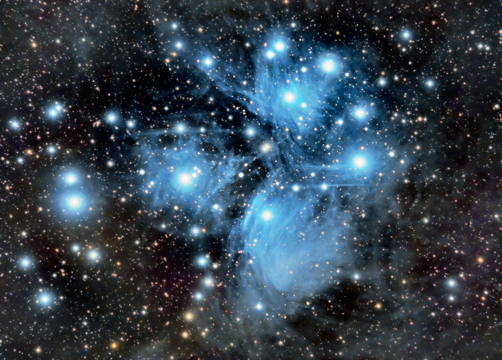 This magnificent picture of the Pleiades, or Seven Sisters in Taurus, is the result of a cumulative exposure exceeding 30 hours. Image credit: Ian Aiken/Elderberry Observatory/Sunderland/UK