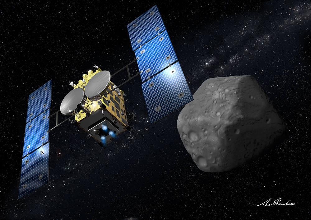 Artist's concept of the Hayabusa 2 spacecraft. Credit: JAXA