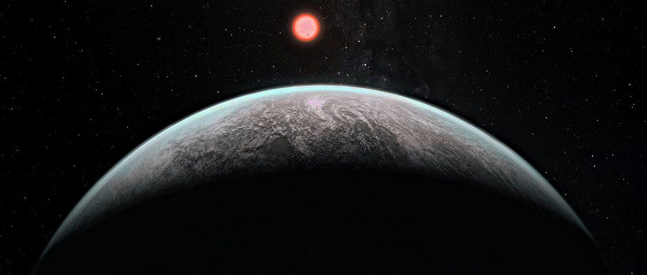 Artist's impression of how an infant Earth may look. Image credit: ESO