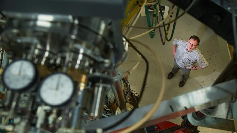 Dr Anton Wallner in the Nuclear Physics Department at Australian National University. Image credit: Stuart Hay, ANU