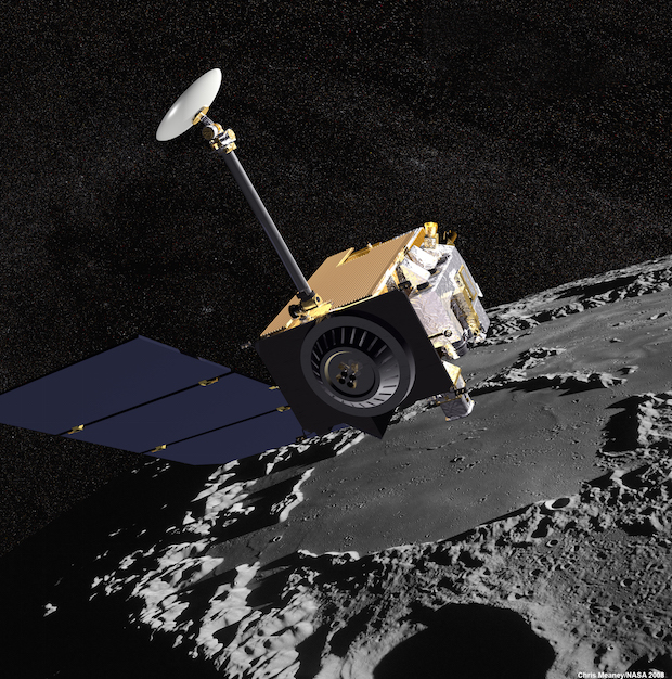 Artist's concept of NASA's Lunar Reconnaissance Orbiter. Credit: NASA/GSFC