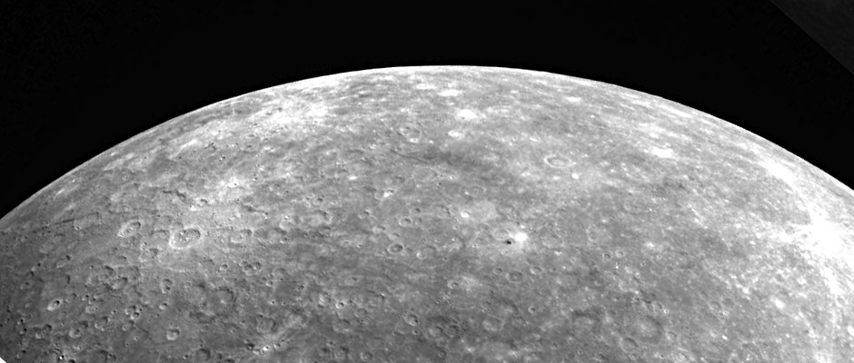The planet Mercury, as seen by the MESSENGER mission. Image credit: NASA/Johns Hopkins University Applied Physics Laboratory/Carnegie Institution of Washington