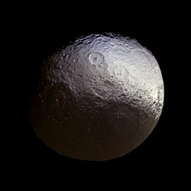 Iapetus, Saturn's third largest moon. Image: NASA/JPL-Caltech/Space Science Institute