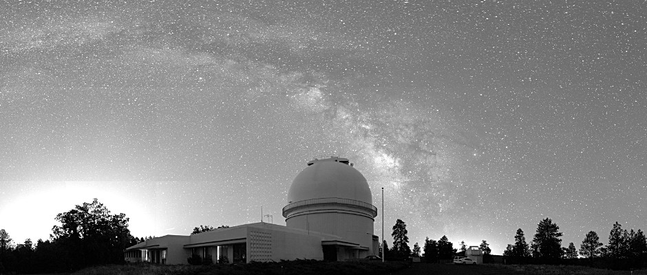 Established in 1955 a few miles west of Flagstaff, Arizona, the Flagstaff station is the U. S. Naval Observatory's dark-sky site for optical and near-infrared astronomy. There are presently two USNO sites in the Flagstaff area: this station (NOFS) and the Navy Precision Optical Interferometer (NPOI), located some 15 miles south of the city. Image credit: Paul Shankland/USNO.