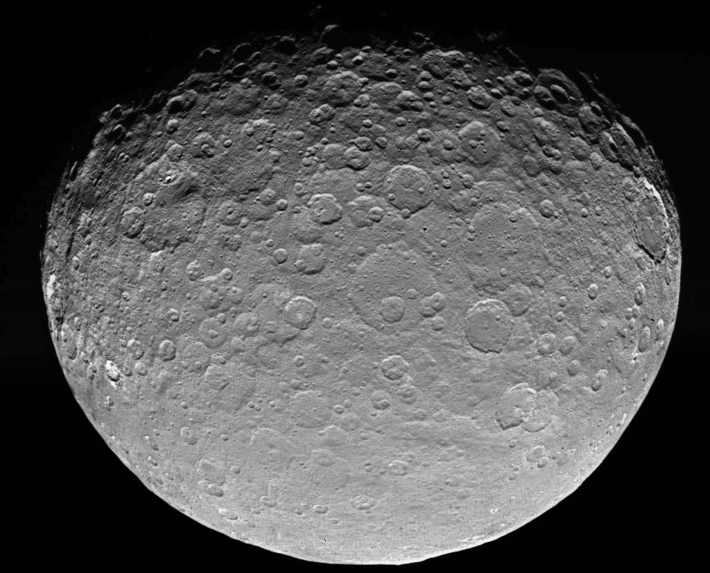 This image of dwarf planet Ceres is part of a sequence taken by NASA's Dawn spacecraft on May 4th, 2015, from a distance of 8,400 miles (13,600 kilometres). Image credit: NASA/JPL-Caltech/UCLA/MPS/DLR/IDA.