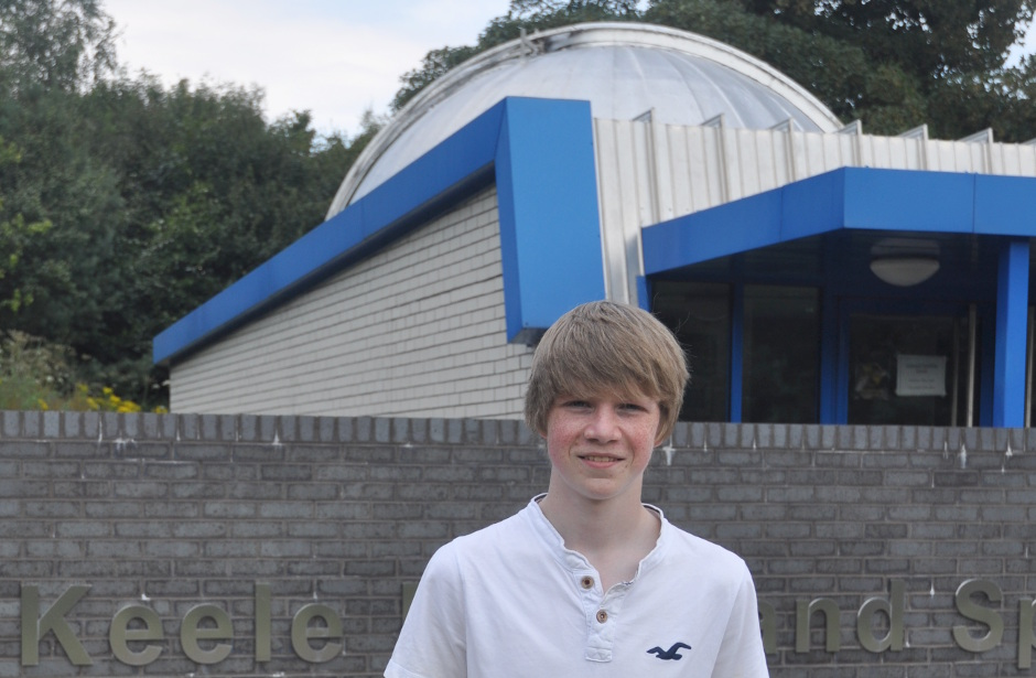 Tom Wagg, now aged 17, discovered the planet bearing catalogue number WASP-142b by looking at data collected by the WASP (Wide Angle Search for Planets) project while doing work experience at Keele University two years ago. A pupil at Newcastle-under-Lyme School who has always been keen on science, Tom asked for the work-experience week after learning that Keele University had a research group studying extra-solar planets. Image credit: Keele University.