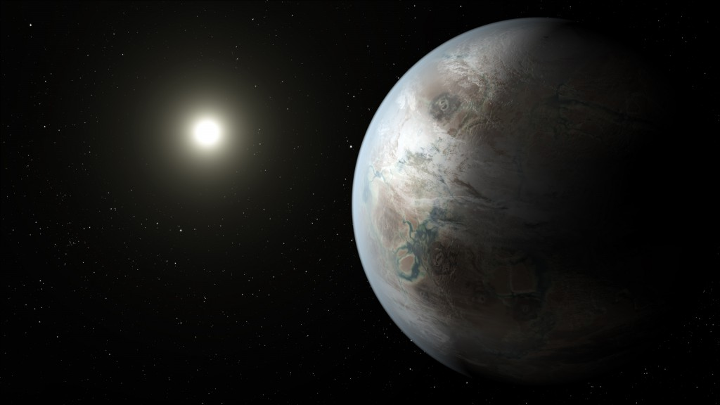 An artist's impression of what Kepler-452b might look like. Image: NASA Ames/JPL–Caltecg/T Pyle.