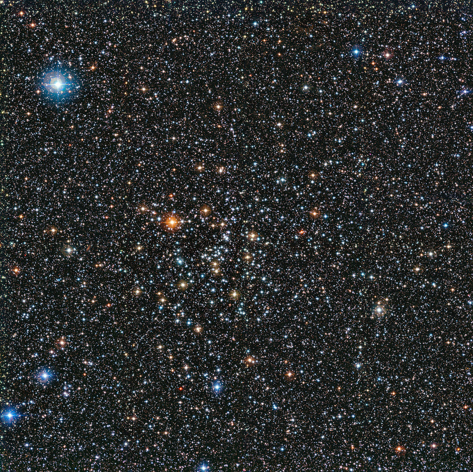 This rich view of a tapestry of colourful stars was captured by the Wide Field Imager (WFI) camera, on the MPG/ESO 2.2-metre telescope at ESO's La Silla Observatory in Chile. It shows an open cluster of stars known as IC4651, a stellar grouping that lies at in the constellation of Ara (The Altar). Image credit: ESO.