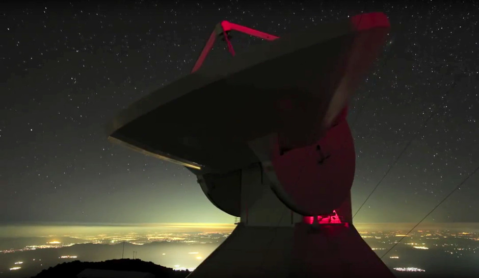 The Large Millimetre Telescope, located atop Sierra Negra (4,600 metres above sea level) in the state of Puebla, Mexico, is a bi-national collaboration between UMass Amherst and the Instituto Nacional de Astrofísica, Óptica y Electrónica. Image credit: UMass / James Lowenthal.