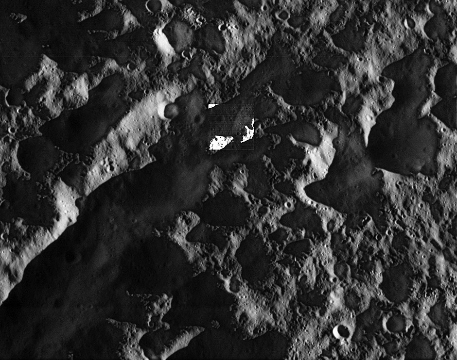 As NASA's Cassini soared above high northern latitudes on Saturn's moon Dione, the spacecraft looked down at a region near the day-night boundary. Territory seen here is just east of a crater named Butes, near an unnamed tectonic structure around 65 degrees north latitude, 25 degrees west longitude. The broader view is from the spacecraft's wide-angle camera (WAC) and includes an inset view from Cassini's narrow-angle camera (NAC). The views were acquired in visible light at an altitude of 365 miles (588 kilometres) above Dione. The wide-angle camera image has an image scale of about 115 feet (35 metres) per pixel; the narrow-angle camera image has an image scale of about 12 feet (3.5 metres) per pixel. Image credit: NASA/JPL-Caltech/Space Science Institute.