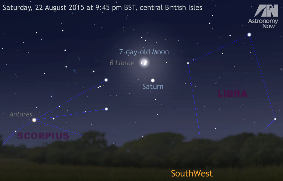 See the Moon meet Saturn and a star disappear on 22 August ...
