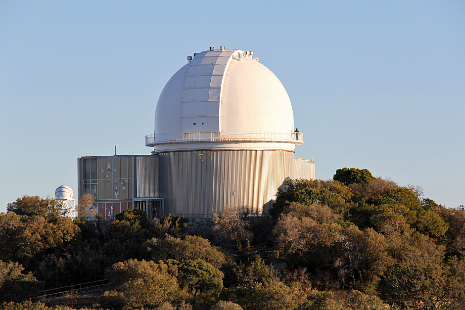 The dome of the venerable 2.1-metre telescope at Kitt Peak National Observatory, where Robo-AO will be installed. Image Credit: P. Marenfeld & NOAO/AURA/NSF.