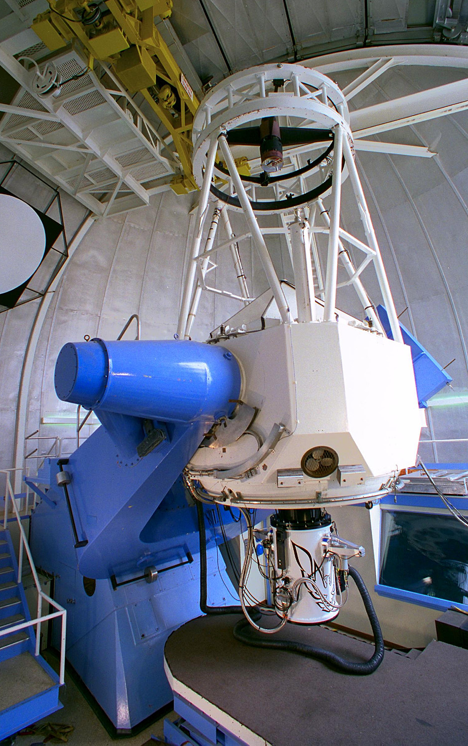 Constructed in the early 1960s and seeing first light on 15September 1964, the Kitt Peak National Observatory 2.1-metre telescope was one of the earliest Kitt Peak telescopes. The Robo-AOKP adaptive optics system will be transferred to the instrument later this year to support long-term observing projects. Image credit: KPNO/NOAO/AURA/NSF.