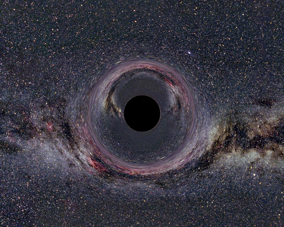 Artist's impression of a black hole in the heart of the Milky Way. Image credit: Ute Kraus, Universität Hildesheim, CC BY-SA 2.5.